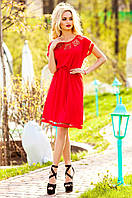 Красное платье-туника Херес Jadone Fashion 42-50 размеры