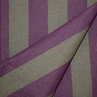 Ткань полоса табак/фиолетывый