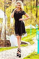 Черное платье-туника Херес Jadone Fashion 42-50 размеры
