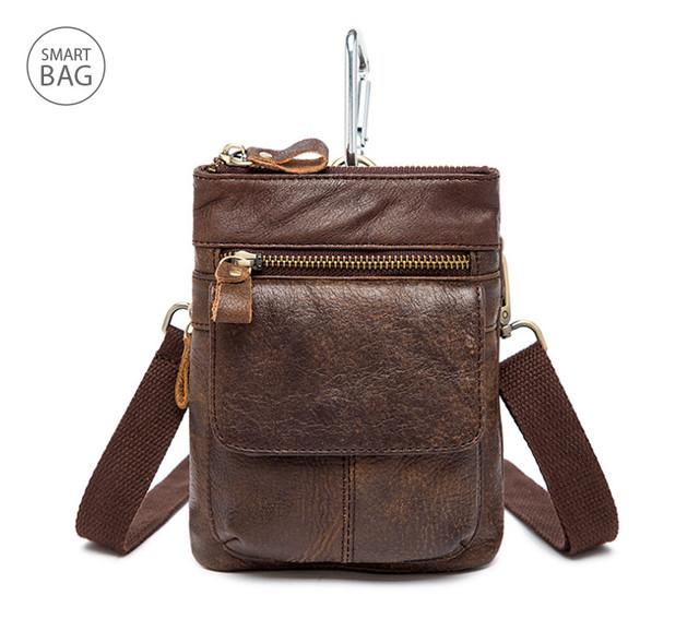 Мужская кожаная мини-сумочка через плечо Marrant