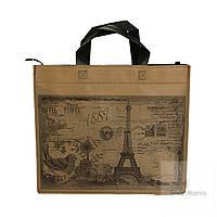 Эко сумка небольшого размера с принтом эйфелевой башни