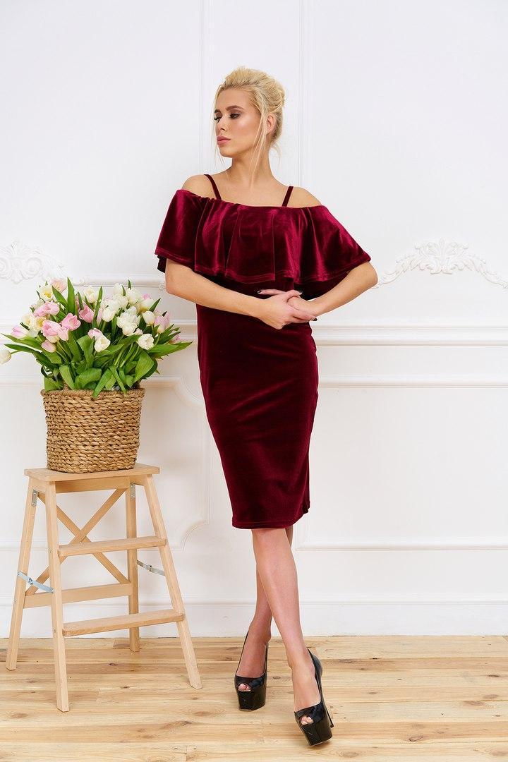 Платье женское из бархата