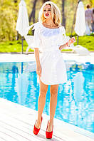 Летнее белое платье-туника Тина Jadone Fashion 42-50 размеры