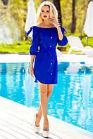 Летнее платье-туника Тина электрик Jadone Fashion 42-50 размеры