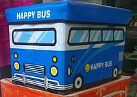 Оргнайзер детский для игрушек Автобус синий