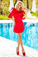 Летнее  красное платье-туника Тина Jadone Fashion 42-50 размеры
