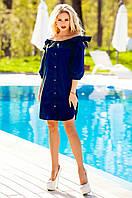 Летнее  темно-синее платье-туника Тина Jadone Fashion 42-50 размеры
