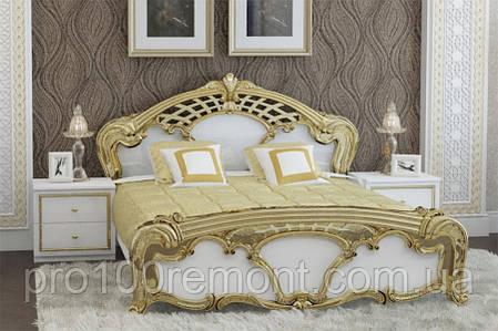 Кровать 1.6 ЕВА глянец белый/золото от Миро-Марк, фото 2