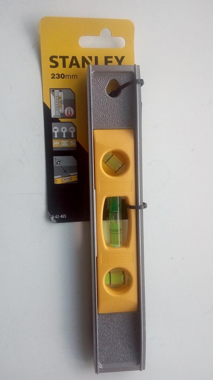 Уровень STANLEY TORPEDO 230 мм, 3 капсулы, алюминий 0-42-465