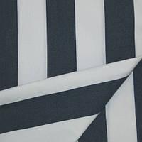 Ткань полоса молочный/синий