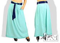 Женская летняя юбка в пол больших размеров