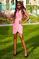 Элегантное платье на запах Одри фуксия Jadone Fashion 42-48 размеры