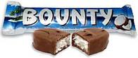 """Шоколадный батончик «Баунти» """"Bounty"""" 57гр.оптом"""