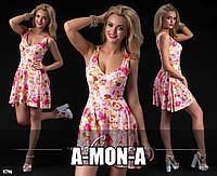 Платье с красивым лифом из замши