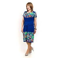 Женское летнее платье большого размера с ццветочным принтом