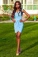 Элегантное голубое платье на запах Одри Jadone Fashion 42-48 размеры