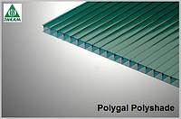 Поликарбонат сотовый Polygal Polyshade (Израиль) 8мм зеленый