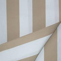 Ткань полоса беж/молочный