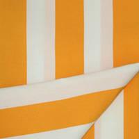 Ткань полоса молочный/желтый