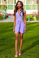 Элегантное сиреневое платье на запах Одри Jadone Fashion 42-48 размеры