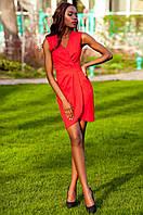 Элегантное красное платье на запах Одри Jadone Fashion 42-48 размеры