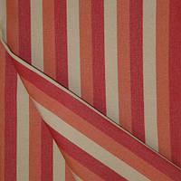 Ткань полоса террак/беж/красный