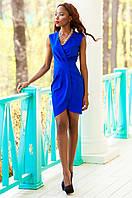 Элегантное платье на запах Одри электрик Jadone Fashion 42-48 размеры