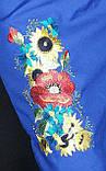 """Вышитое платье на синем габардине """"Подсолнухи"""", 700\650 (цена за 1 шт. + 50 гр.), фото 6"""