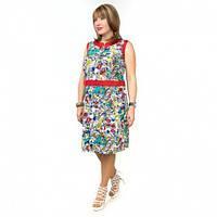 Женское летнее платье большого размера из льна
