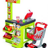 Супермаркет детский игровой электронный с тележкой звуком и светом Smoby 350202