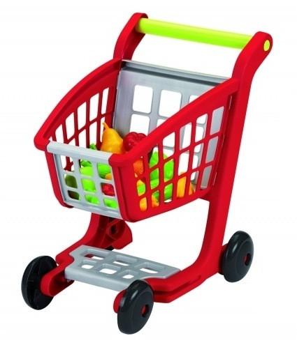Каталка тележка детская для супермаркета с набором продуктов Ecoiffier 1225