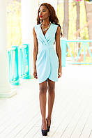 Элегантное бирюзовое платье на запах Одри Jadone Fashion 42-48 размеры