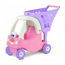 Каталка тележка детская для покупок розовая Little Tikes 620195