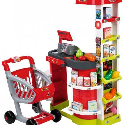 Супермаркет детский игровой интерактивный с тележкой Sity Shop Smoby 350204