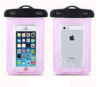 Водонепроницаемый чехол для смартфонов до 5 '' розовый