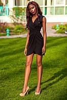 Элегантное черное платье на запах Одри Jadone Fashion 42-48 размеры