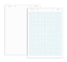 Блокнот для фліпчарту Optima, 20 арк., розмір 640х900 мм, 70г/м2, білий