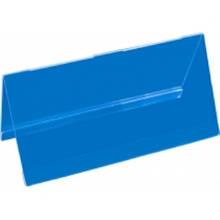 Двостороння підставка під друковану продукцію 100х200 мм, прозора