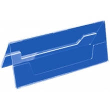 Двостороння підставка під друковану продукцію 200х72 мм, прозора