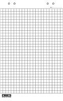 Блок паперу для фліпчартів, 10 арк. 64 х 90 см.