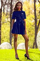 Женское темно-синее платье-туника Латино Jadone Fashion 42-50 размеры