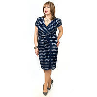 Женское платье большого размера с коротким рукавом