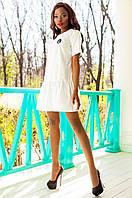 Женское белое платье-туника Латино Jadone Fashion 42-50 размеры