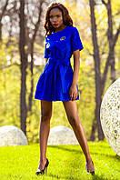 Женское платье-туника Латино электрик Jadone Fashion 42-50 размеры