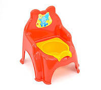 Детский горшок стульчик оранжевый