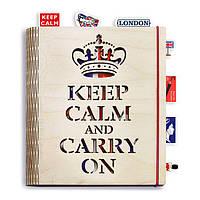 """Креативный блокнот """"Keep Calm and Carry On"""" (А5 формат )"""