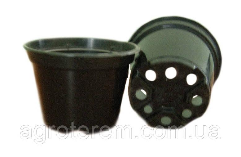Горшок стакан 110х83мм. (Польша), технологический для рассады круглый черный.