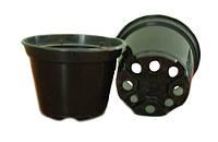 Горшок стакан 120х90 мм. (Польша). технологический для рассады, круглый, черный.