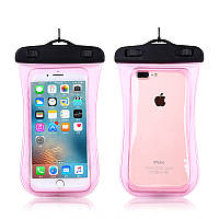 Водонепроницаемый чехол для смартфонов до 5,5 '' розовый