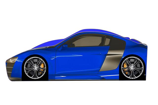 Кровать Ауди R-8 синяя